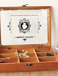zakka Schatulle aus Holz Aufbewahrungsboxen von neun Quadraten 588g