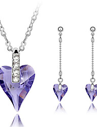 Thousands of colors  Jewelry Necklaces / Earrings Jewelry set Crystal Fashion Daily 1set Women -9-1-1-3972-148