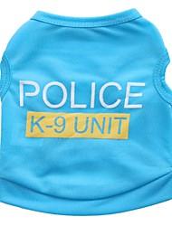 Katzen Hunde T-shirt Hundekleidung Sommer Polizei / Militär Niedlich Lässig/Alltäglich Schwarz Rose Blau Rosa