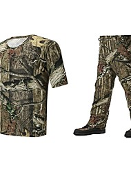 Men Outdoor Sports Clothing Camo Suits For Hunting Fishing Camo Tshirt Spring Pant