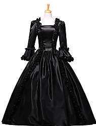 One-Piece/Dress Gothic Lolita / Sweet Lolita / Classic/Traditional Lolita / Punk Lolita Steampunk® Cosplay Lolita Dress Black Floral