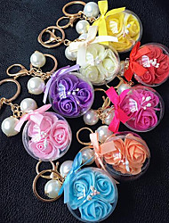 Key Buckle Flower Color Eternal Crystal Ball Car Accessories