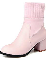 Women's Boots Winter Others Dress / Casual Chunky Heel Split Joint / Zipper Black / Brown / Pink / Gray Others