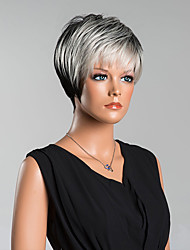 New Arrival Smart Short Straight Capless Wigs High Quality Human Hair Mixed Color