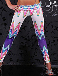 Women's Print Blue Skinny PantsSexy Summer
