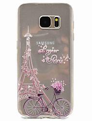 Pour Motif Coque Coque Arrière Coque Tour Eiffel Flexible PUT pour Samsung S8 S7 edge S7 S5 Mini S5