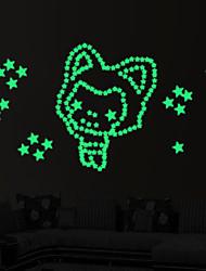 Bande dessinée / Mode / Paysage Stickers muraux Stickers avion / Stickers muraux lumineux Stickers muraux décoratifs,PVC MatérielLavable