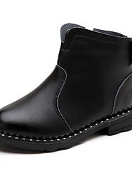 Girl's Boots Spring / Fall / Winter Bootie / Comfort Suede Outdoor / Athletic / Casual Zipper Black / Pink / Red Walking