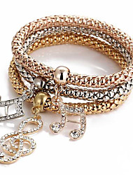 Bracelet Charm Bracelet Alloy Daily / Casual / Sports Jewelry  Gold,1pc Christmas Gifts