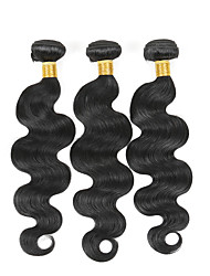 3 bundles Brazilian Body Wave Human Hair Weave Extensions 300g Full Head Set 8inch-28inch