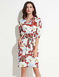 MAXLINDY  Women's Going out / Party/Cocktail / Holiday Vintage / Street chic / Sophisticated Floral Sheath Dress