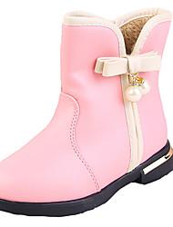 Para Niña-Tacón Plano-Confort Botas de Nieve-Botas-Vestido Informal-PU-Negro Rosa Rojo