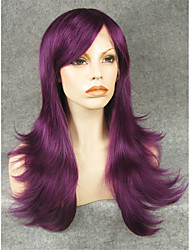 IMSTYLE22'High Quality Purple Straight Synthetic Machine Wigs No Lace