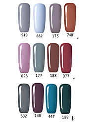 Vernis Gel UV 15ml 1picec Paillettes / Gel de Couleur UV Faire tremper au large de Long Lasting