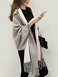 Damen Standard Mantel / Capes-Ausgehen / Lässig/Alltäglich / Urlaub Sexy / Einfach / Street Schick Solide Blau / Rot / Schwarz / Grau