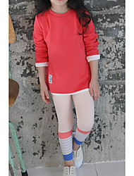 Girls' Casual/Daily Solid Pants-Cotton Fall