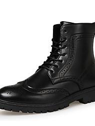 Черный / Коричневый-Мужской-На каждый день-Полиуретан-На плоской подошве-Удобная обувь-Ботинки