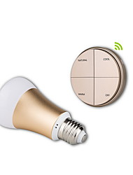 Battery-Free Self-powered Wireless Remote Control E27 Smart Dimmable  LED Bulb-Gold