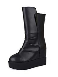 Women's Boots Fall / Winter Comfort  Casual Platform Zipper Black Walking