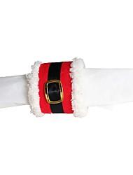 1шт орнамент рождества пряжки ремня кольцо салфетку