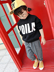 Girl's Casual/Daily Print Hoodie & SweatshirtCotton Winter Black / Pink