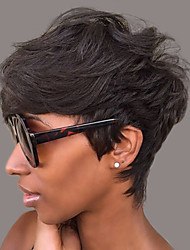 Perfect Prevailing  Fluffy Black Short Hair Human Hair Wig