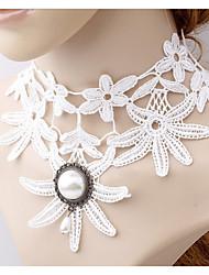 Colliers Tendance Perle imitée Collier court /Ras-du-cou / Col / perle Strands / Collier de perles Bijoux Halloween / Mariage / Soirée