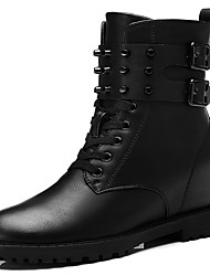 Women's Boots Fall Comfort Leatherette Wedding / Party & Evening / Dress Low Heel Others Black / Gray Others