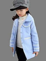 Girl's Casual/Daily Color Block BlouseCotton Winter Blue / Pink