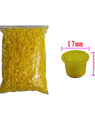 Solong Tattoo 1000 pcs Tattoo Ink Cups Plastic Caps Medium Size Yellow Color TC102-3