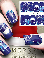 1 Nail Sticker Art Autocollants de transfert de l'eau Maquillage cosmétique Nail Art Design