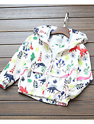 Girl's Casual/Daily Floral Down & Cotton PaddedCotton Spring / Fall Blue / White
