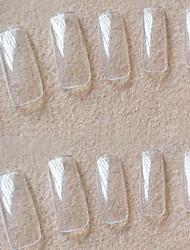 manucure Vente en gros korea 500 morceaux de pâte transparente transparente complète un morceau de faux ongles