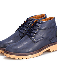 Men's Sneakers Fall / Winter Comfort PU Casual Low Heel Others / Lace-up Black / Blue / Brown Others