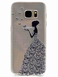 Pour Motif Coque Coque Arrière Coque Femme Sexy Flexible PUT pour Samsung S8 S7 edge S7 S5 Mini S5