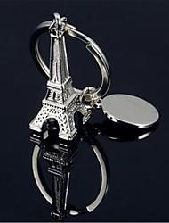 porte-clés de la chaîne de clé métallique de la tour eiffel