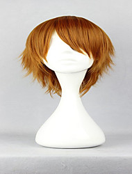 Axis Powers Rovino Vargas 32cm Short Brown Synthetic Man Cosplay Wig