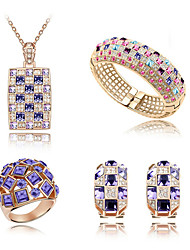 Thousands of colors  Jewelry Necklaces / Earrings / Rings Jewelry set Crystal Fashion Daily 1set Women -4286