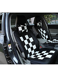 The New Car Seat Cushion Personalized Fashion Plaid Four General Leather Cushion