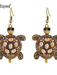 Women's Charming Lovely Cute Tortoise Shaped Anti-Gold Arylic Alloy Hook Drop Earring ER152135