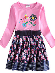 Girl's Dress Baby Princess Dress Party with Flowers Dress for Girls Kids Dresses(Random Printed)