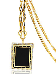 Necklace Rhinestone Pendant Necklaces Jewelry Wedding / Party / Daily / Casual Geometric Alloy Black 1pc Gift