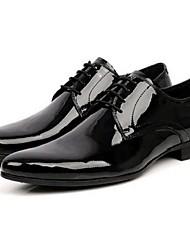 Для мужчин Туфли на шнуровке Удобная обувь Кожа Повседневные Удобная обувь Черный Менее 2,5 см