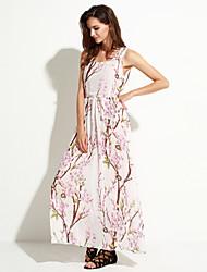 Платье - Макси - Шифон - Пляжный