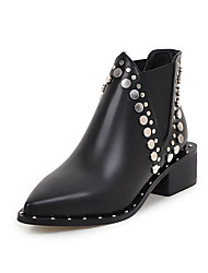 Women's Boots Spring / Fall Motorcycle Boots PU Outdoor / Dress / Casual Low Heel Gore Black Others