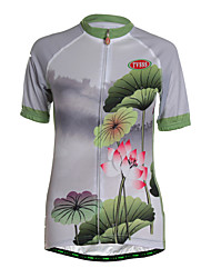Sports Cycling Jersey Women's Short Sleeve Breathable /Wearable / Back Pocket / Ultra Light Fabric /