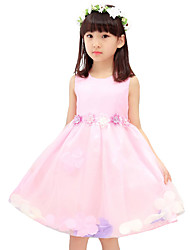 Girl's Casual/Daily Solid Dress,Nylon Summer Sleeveless