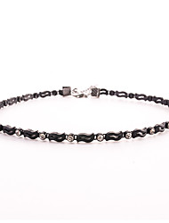 Women's Choker Necklaces Crystal Crystal Simulated Diamond LeafBasic Circular Unique Design Double-layer Sexy Punk Personalized Hip-Hop