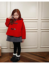 Girl's Casual/Daily Solid Suit & BlazerCotton Winter / Fall Red