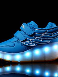 Para Meninas-Botas-Conforto Light Up Shoes-Rasteiro-Preto Azul Rosa Branco Prateado-Sintético-Casual